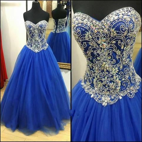 Amazing Luxury Prom Dress,Royal Blue Ball Gown,Beading ... - photo#28