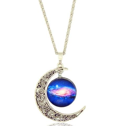 cd1c5085285 NEBULA AND CRESCENT MOON NECKLACE on Storenvy
