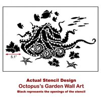Octopus S Garden Wall Art Stencil Wall Stencils For Affordable Room Makeover Aquatic Stencil Great For Nursery From Cutting Edge Stencils