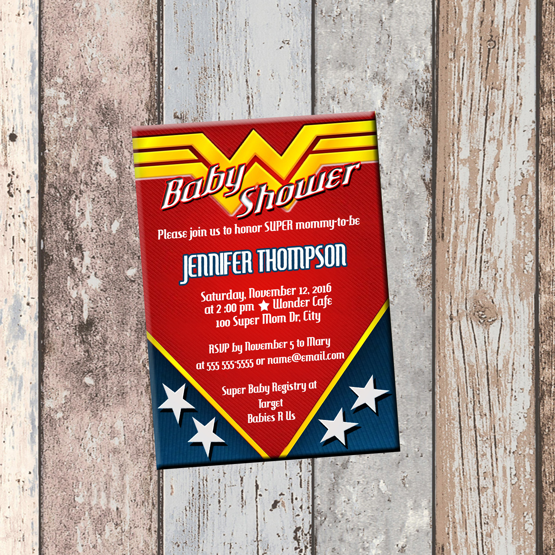 Wonder Woman Baby Shower Invitation-1 Sided on Storenvy