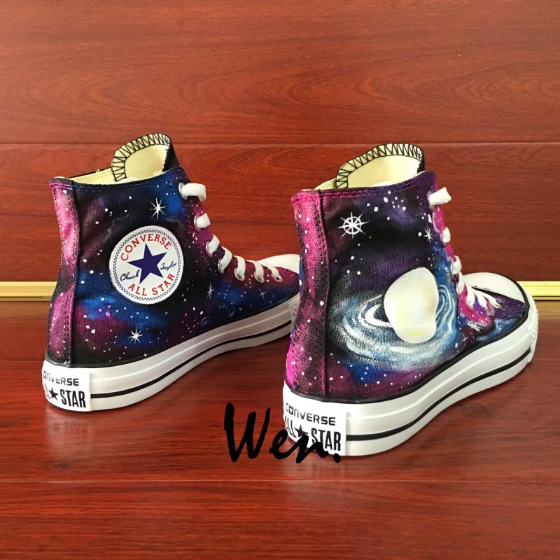 9d34e6341c6c Galaxy Nebula Original Design Converse All Star Custom Design Hand ...
