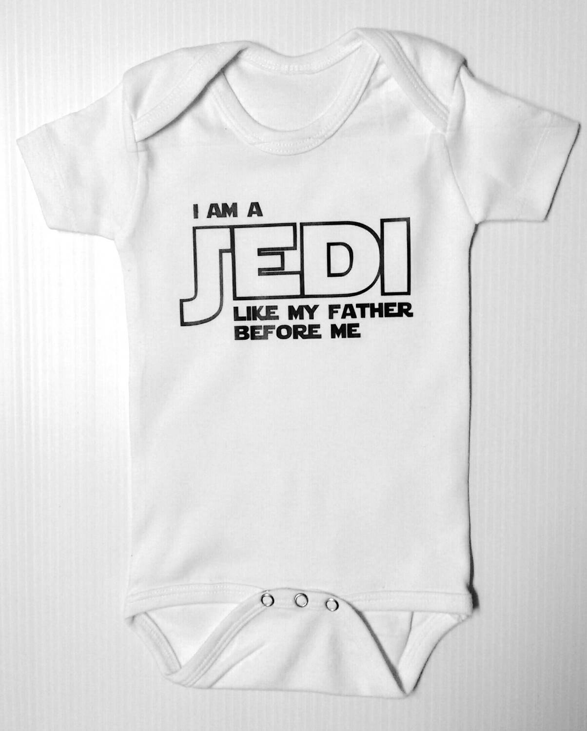 Cute Gift Baby Bodysuit By Apparel USA™ I am a Jedi like my father before me