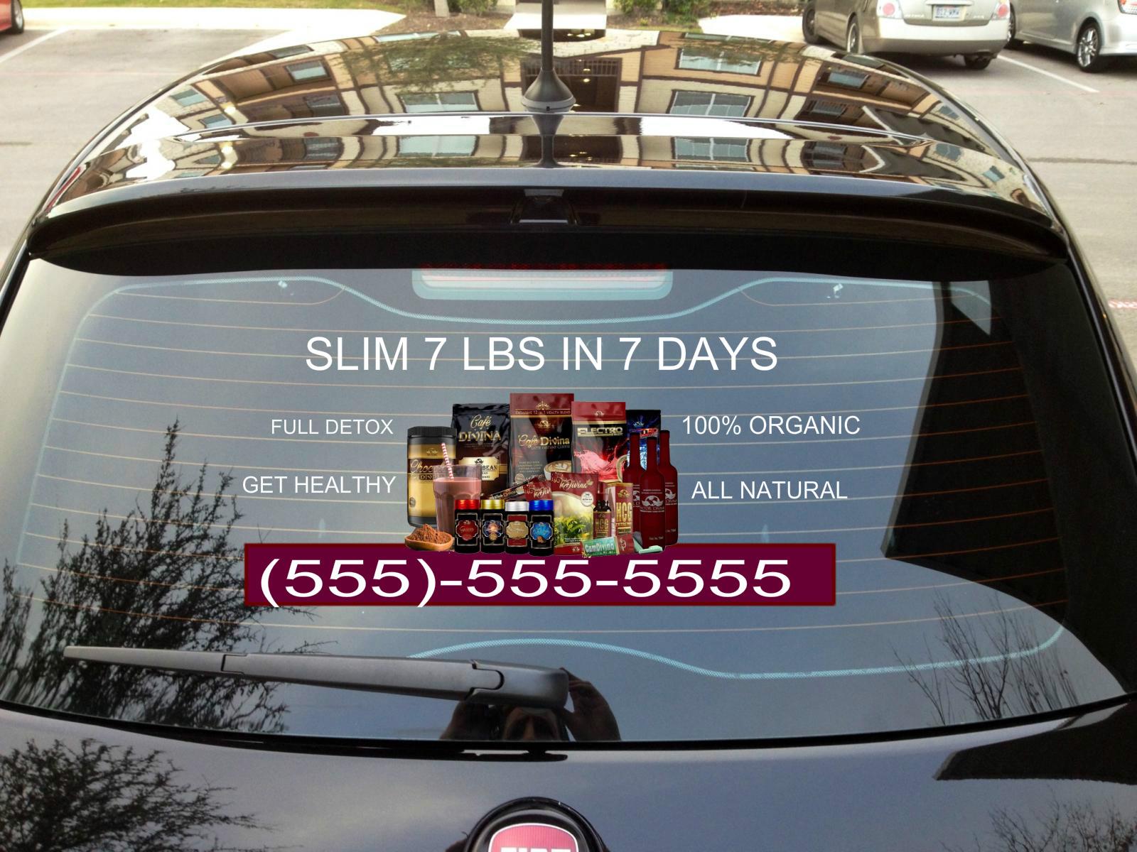12x24 vida divina transparent car window decal on storenvy
