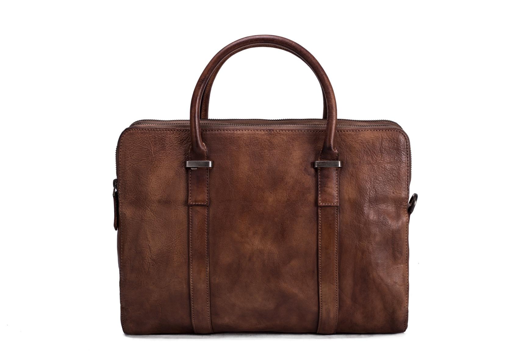 63f72648cbda Vintage Vegetable Tanned Men Leather Briefcase Messenger Bag Laptop Bag  9043 on Storenvy