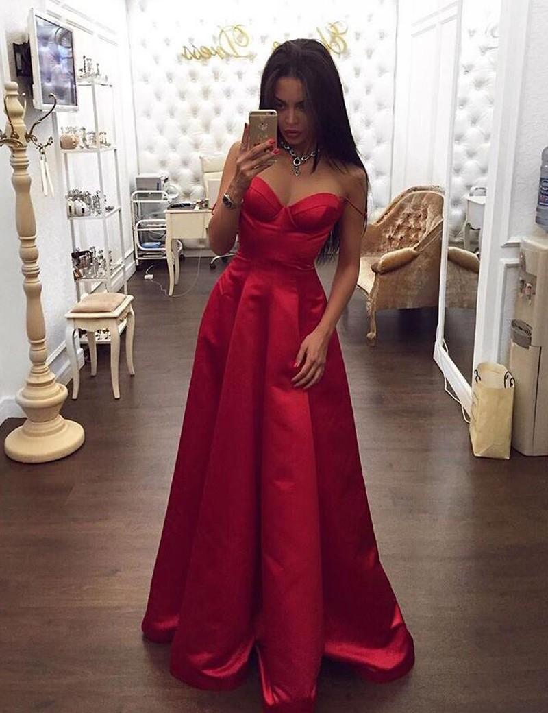 ff4c2c57470 Custom Prom Dress Sweetheart Long Red Prom Dress Ruched Spaghetti Straps  Prom Dress on Storenvy