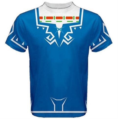 Link Breath Of The Wild Full Print Costume Mens T Shirt Xs