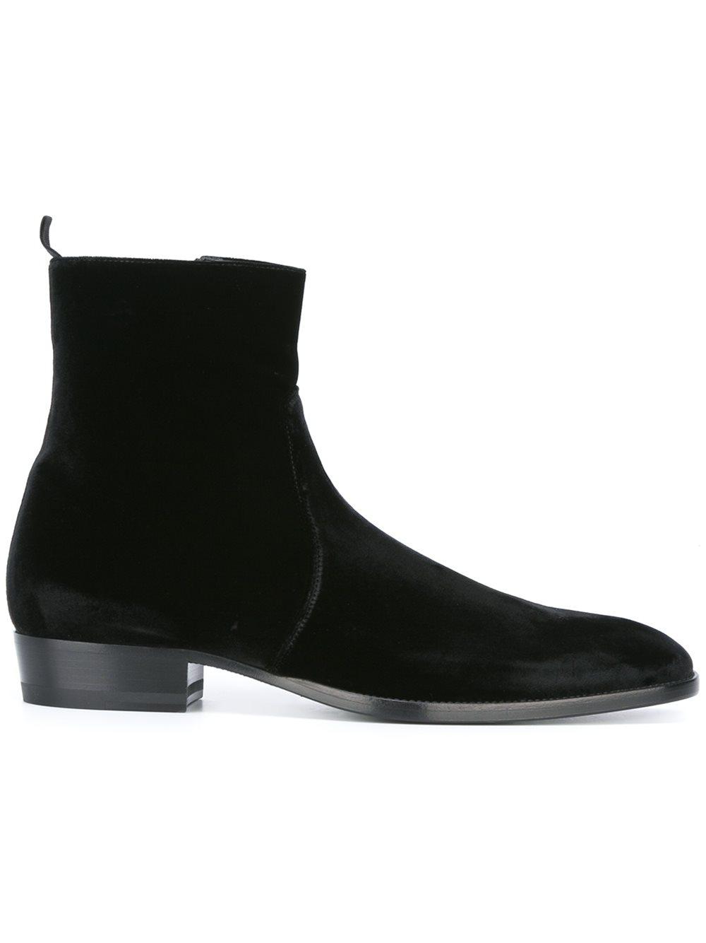 Men's Black Chelsea boots, Men black
