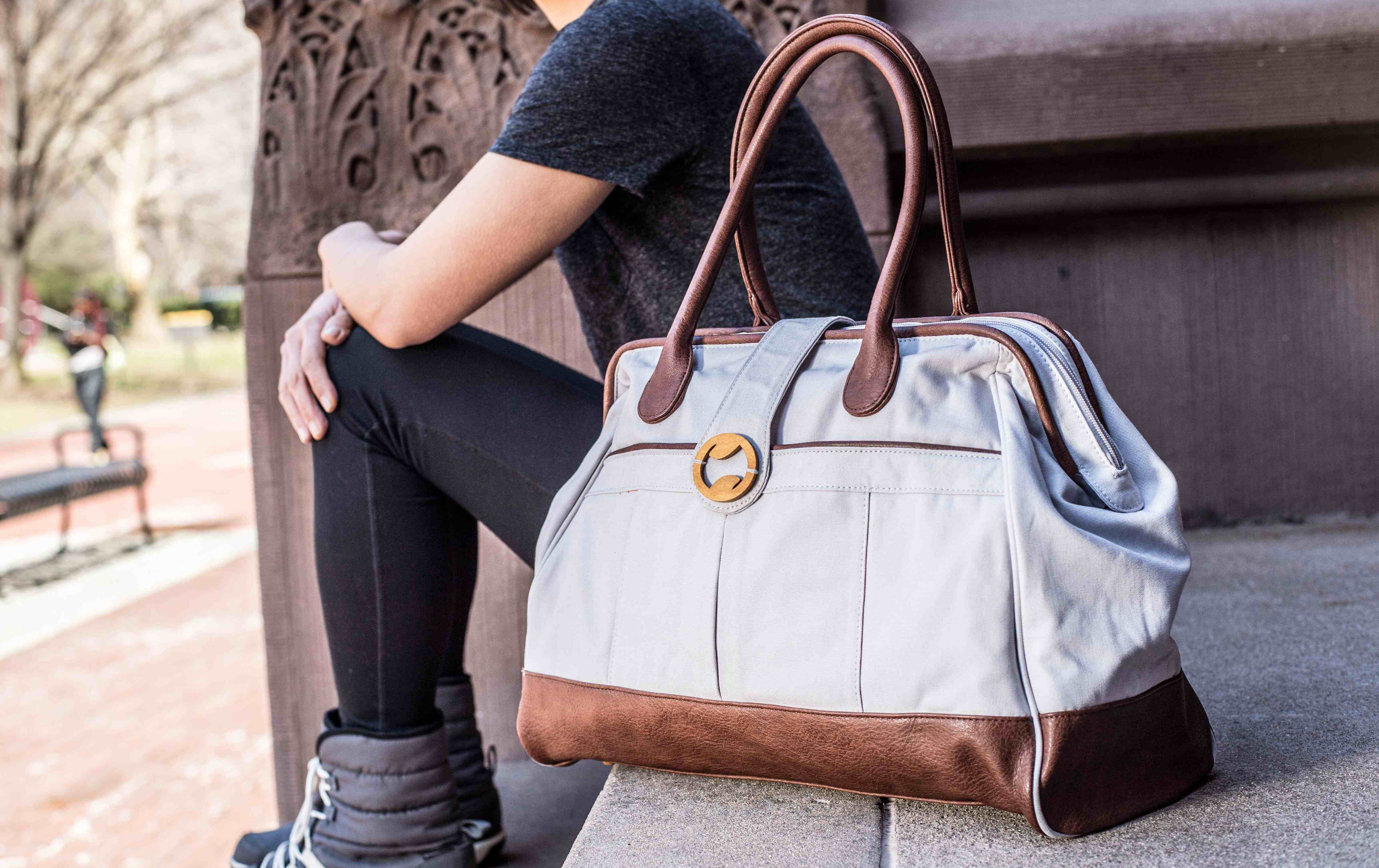 Cassia Structured Weekender Bag For Women Eco And Vegan