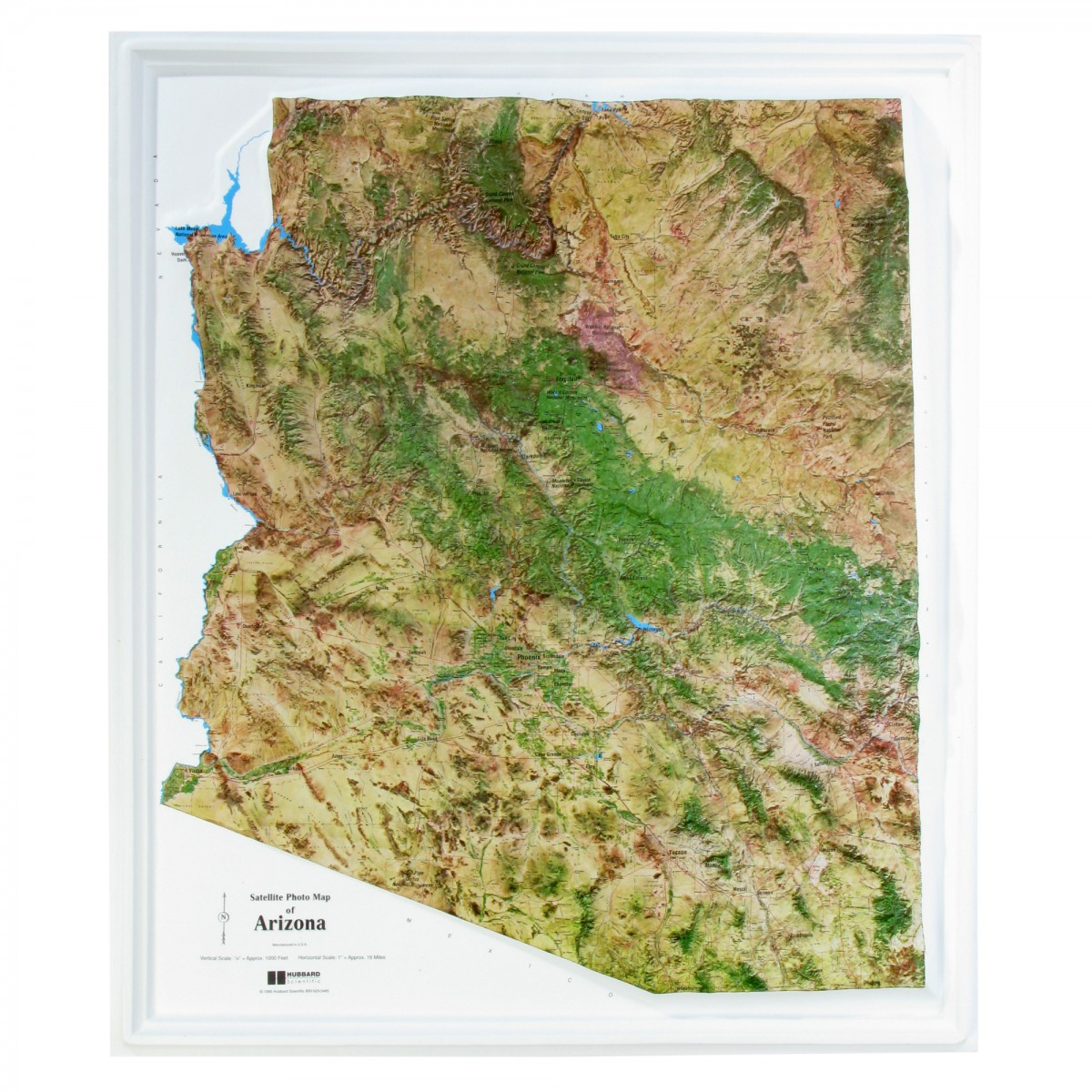 3d Map Of Arizona.Raised Relief 3d Map Of Arizona Ncr Sold By Geomart