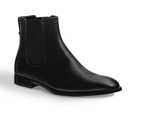 Handmade Mens Fashion Black Ankle Chelsea Leather Boots