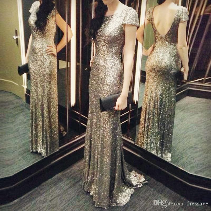 Womens Sequin Long Prom Gown Backless Evening Dress Floor Length Dress,Evening Party Dress Prom Ball Gown Bridesmaids Dresses