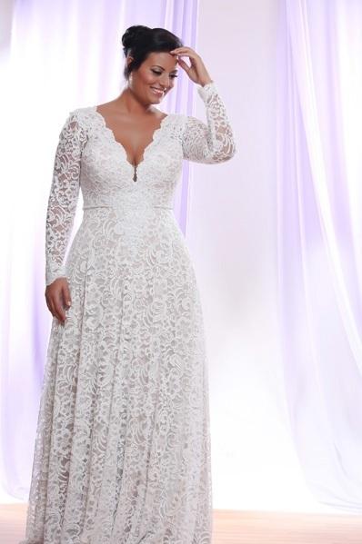 63b8cc1ab Darius Cordell - Style #PS1412 - Long Sleeve Plus Size Wedding Dresses
