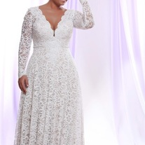 a16d5c67f8e8f Envy This Collect. Darius Cordell - Style #PS1412 - Long Sleeve Plus Size Wedding  Dresses