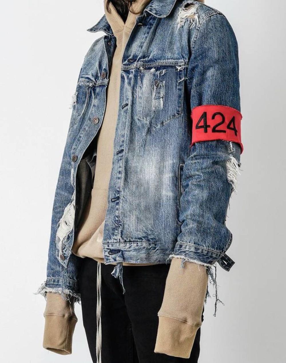 Kpop Four Two Four Denim Jacket On Storenvy