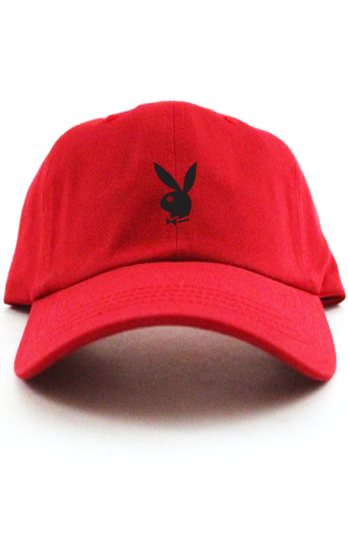 a5494e5c62 Playboy Bunny Unstructured Baseball Dad Hat Cap New - Red w ...