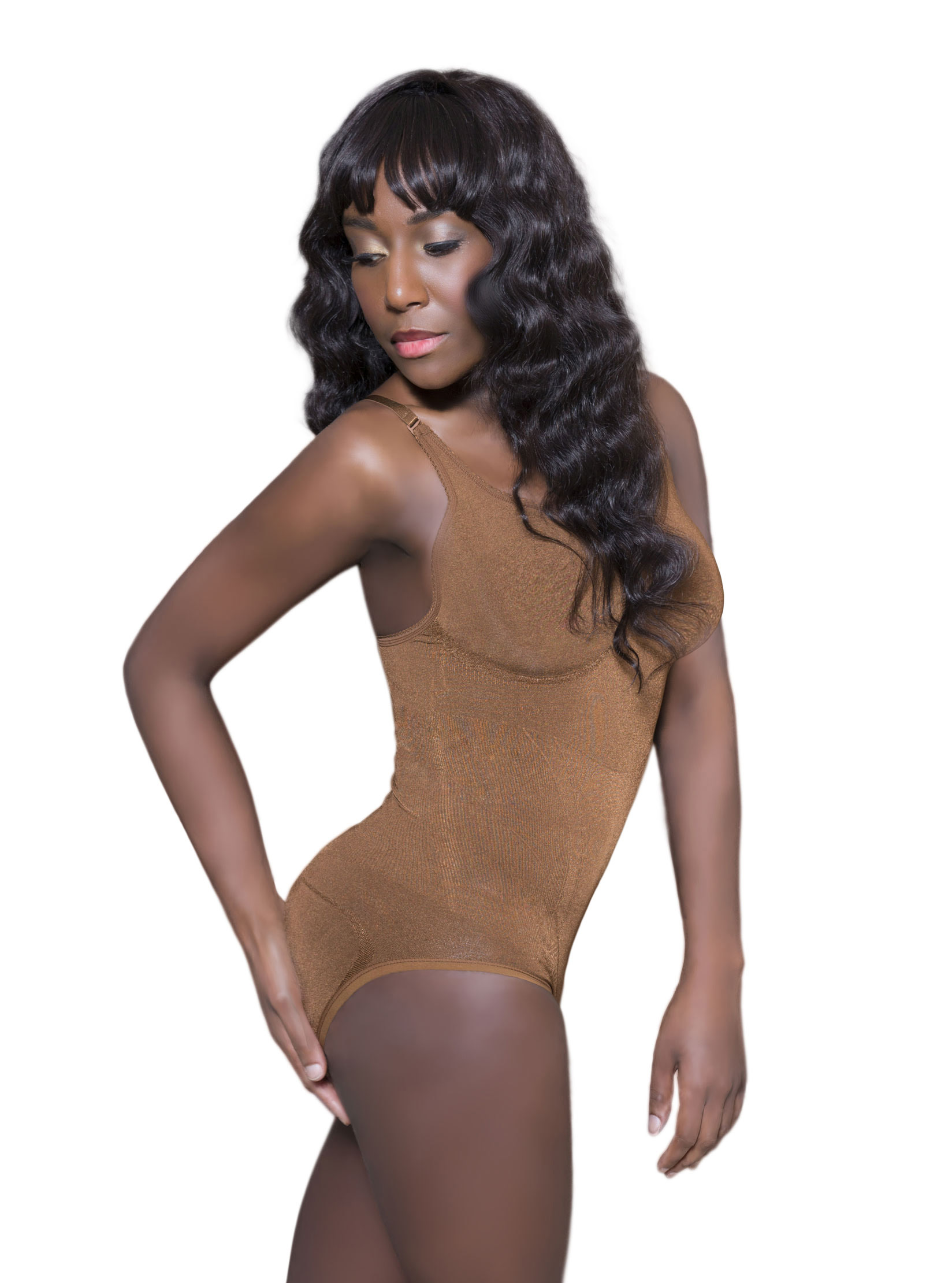 bcfa154b9f48 Storenvy brown nude slimming seamless shapewear body shaper active yoga  bodysuit queen of the crop original