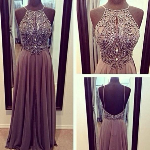 d0289afc09b13 Classic chiffon beaded long prom dress,evening dresses