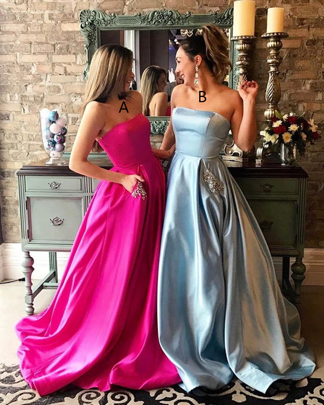 2017 Long Prom Dress, Light Prom Dress, Hot