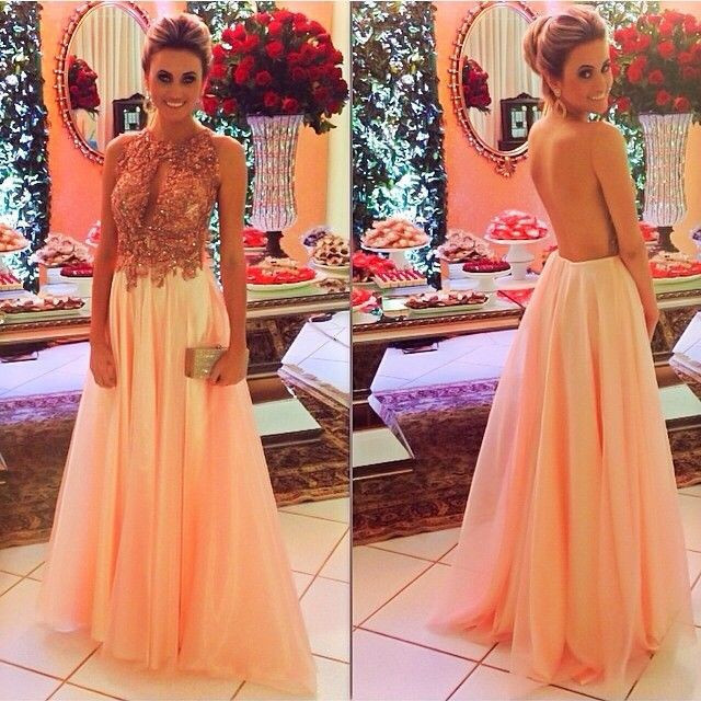Open Backs Evening Gowns,Beaded Formal Gown,Sparkle Prom Gowns For ...