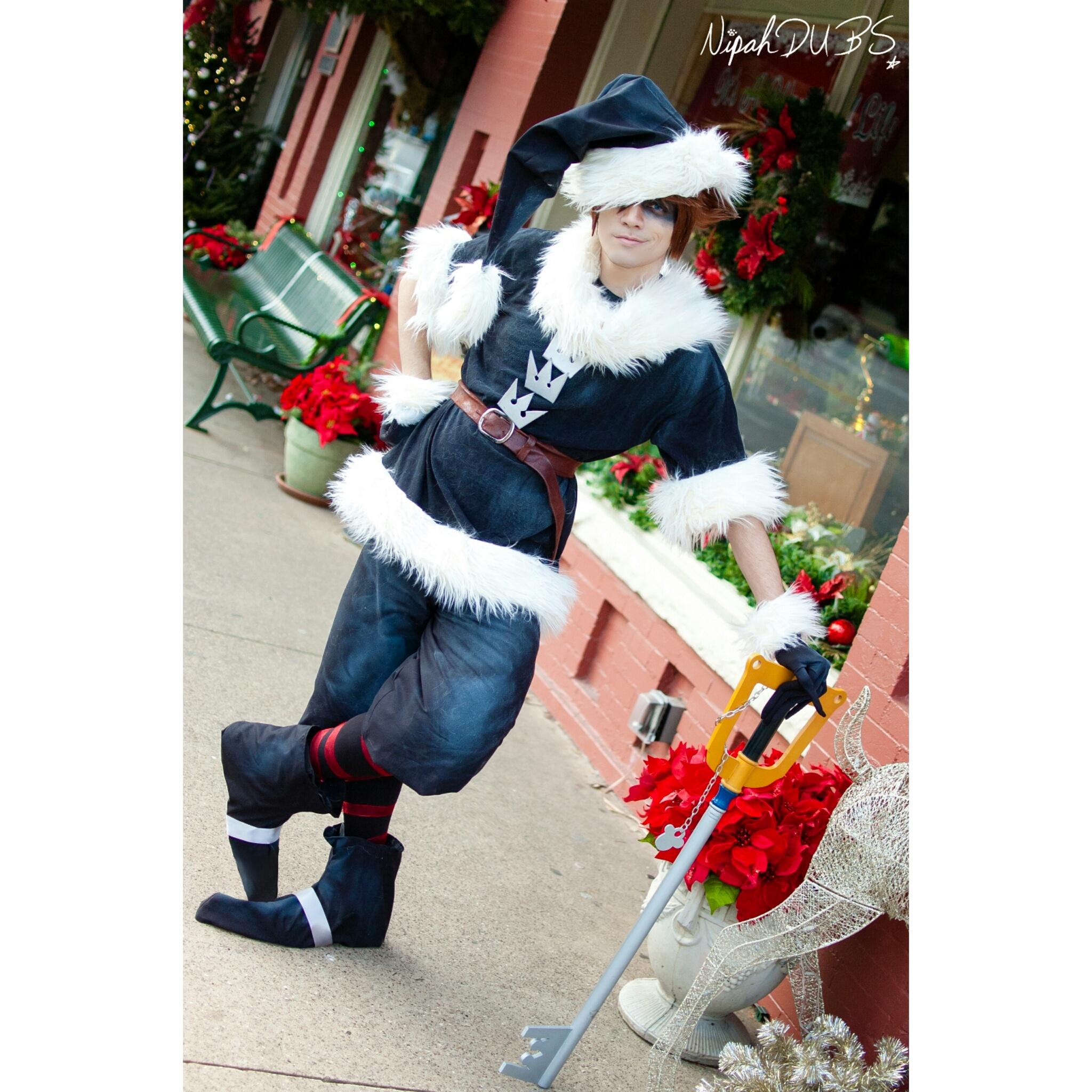 Sora Christmas Town Cosplay.Christmas Town Sora Kingdom Hearts Print From Nipahdubs