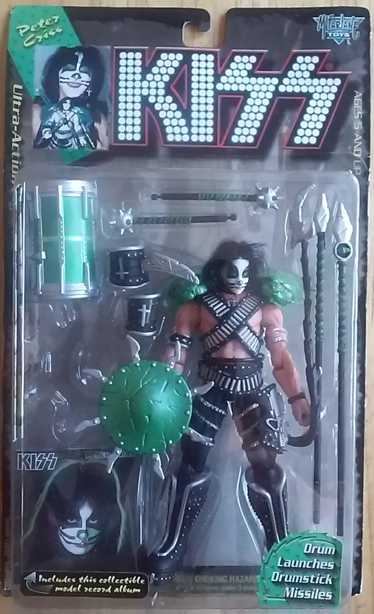 NEW KISS Ultra-Action Figures Peter Criss includes collectible model album