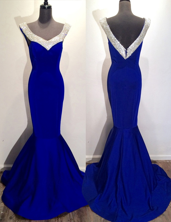 Mermaid Prom Gown,Royal Blue Prom Dresses,Royal Blue Evening Gowns ...