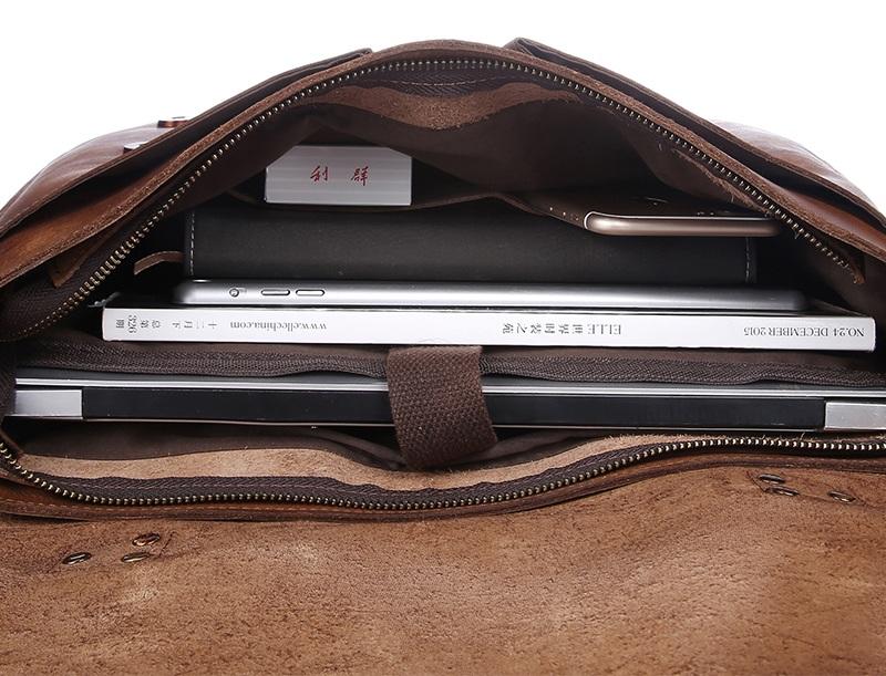 80de6e67f ... Handmade Vintage Leather Briefcase / Leather Messenger Bag / 11