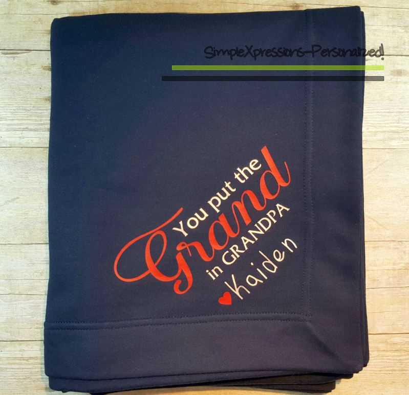 personalized blankets for grandparents best blanket 2018