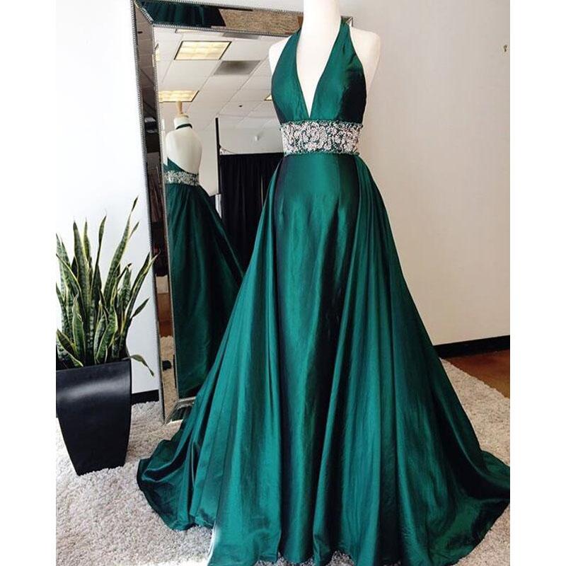 6991cde425b Teal green prom dress