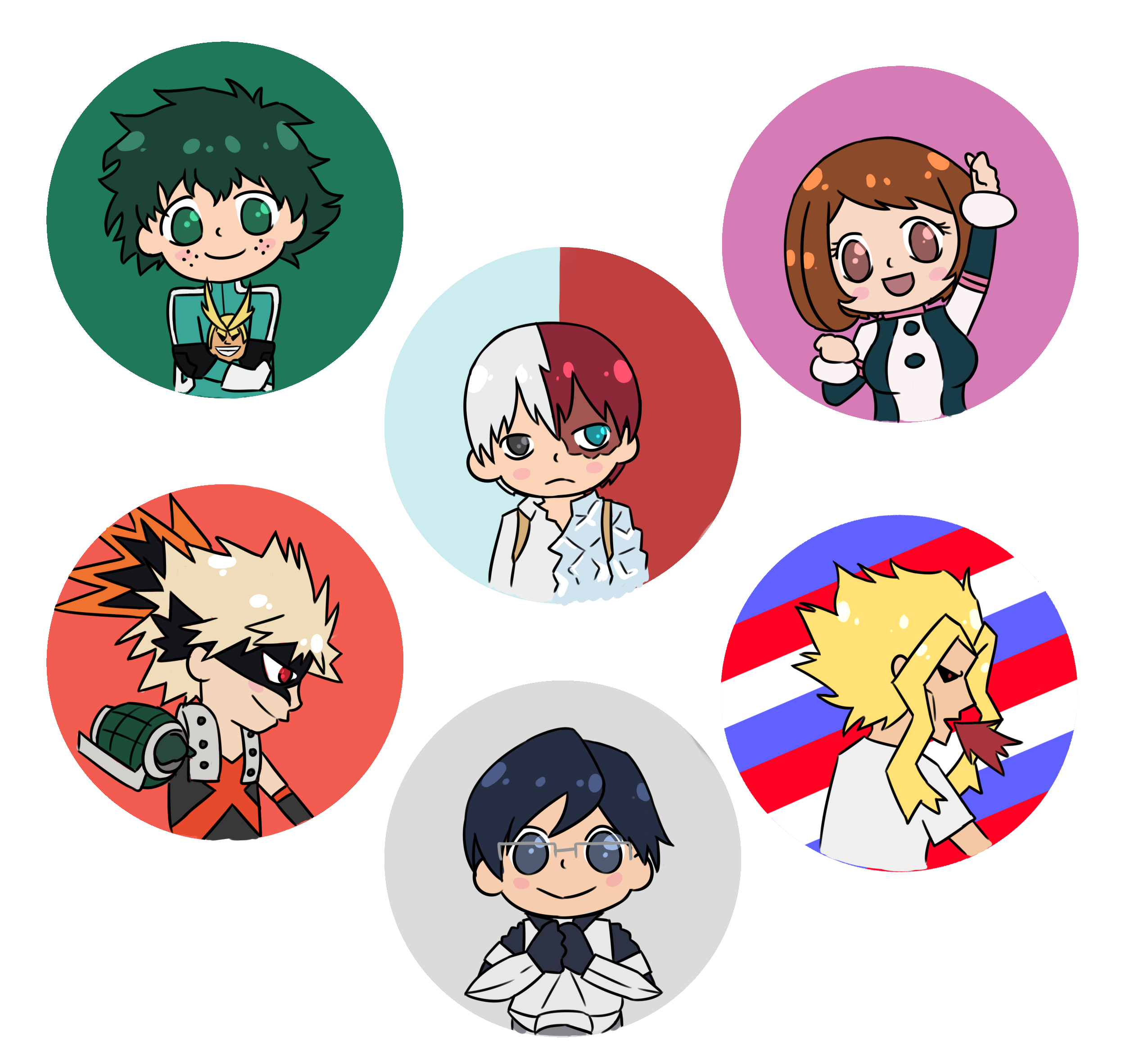 Boku no Hero Academia button sold by renrenners