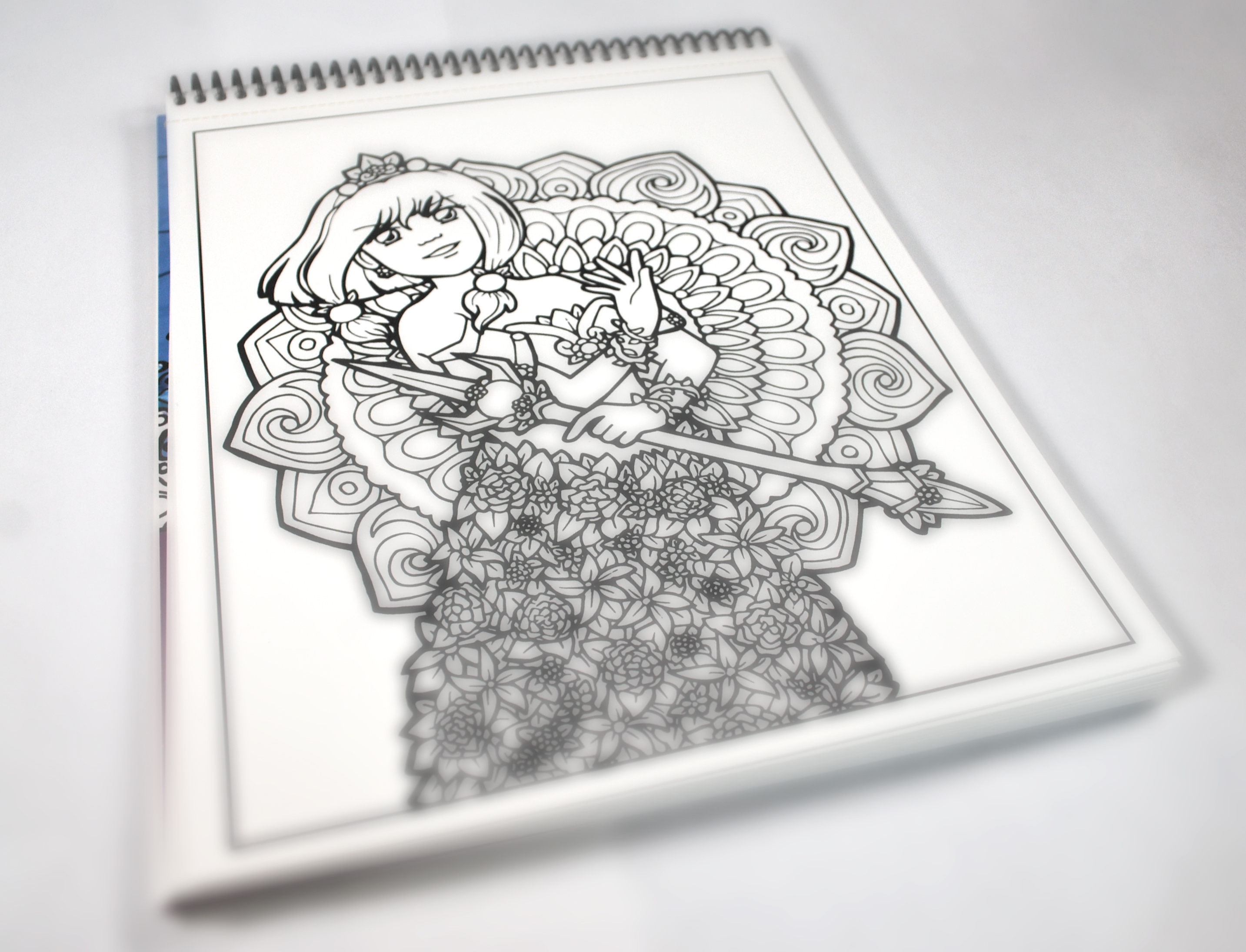 Sakkys Magical Girl Coloring Book