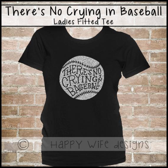 c79944d13 Baseball Mom Shirt - Baseball Shirt, Glitter Baseball Laces, Theres no  Crying in Baseball