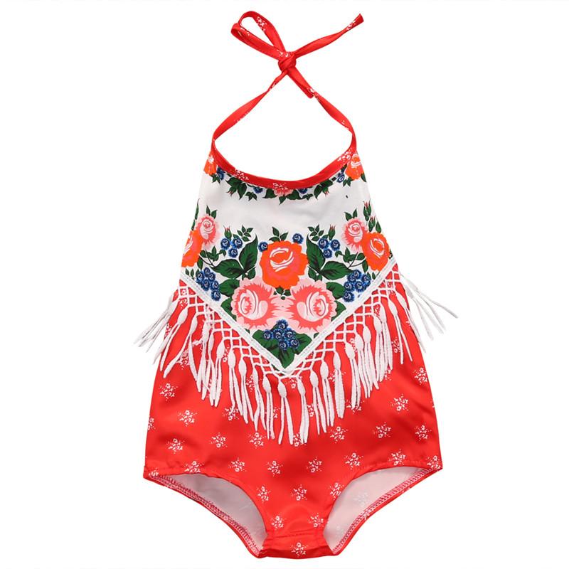 b97059af224 baby girls tassel floral romper