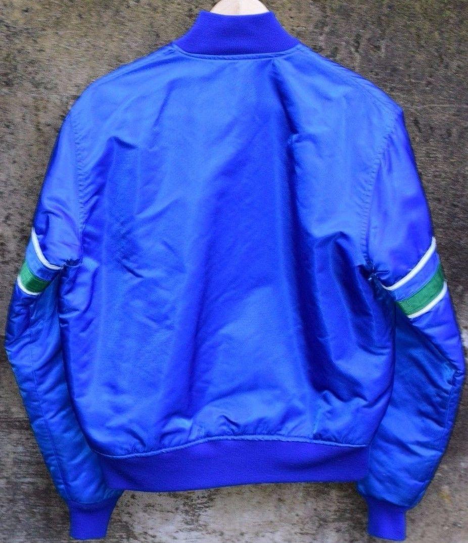 premium selection 97faf fb47c Vintage Seattle Seahawks Starter Jacket Satin Coat Button Up Made in USA  Mens Medium sold by BucksVintage