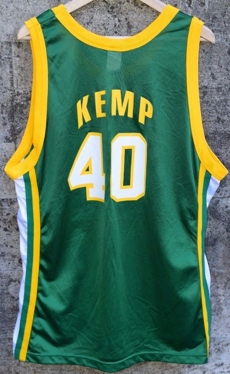 486914af Vintage Champion Jersey Shawn Kemp Seattle Supersonics GOLD PATCH ...