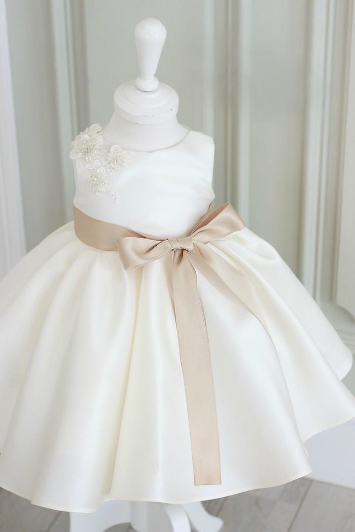 Off White Flower Girl Dress (Made To Order) on Storenvy