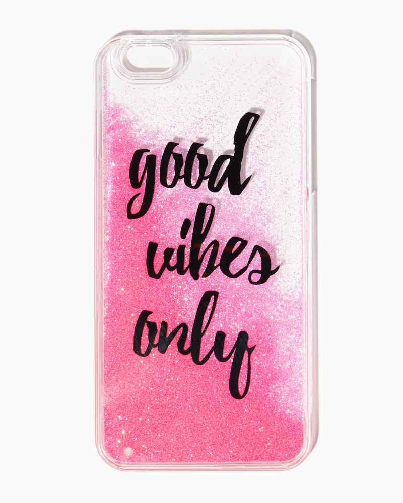 buy online 8ee70 dbe54 Good Vibes Moving Glitter iPhone 6/6s Case from The Kandi Shop