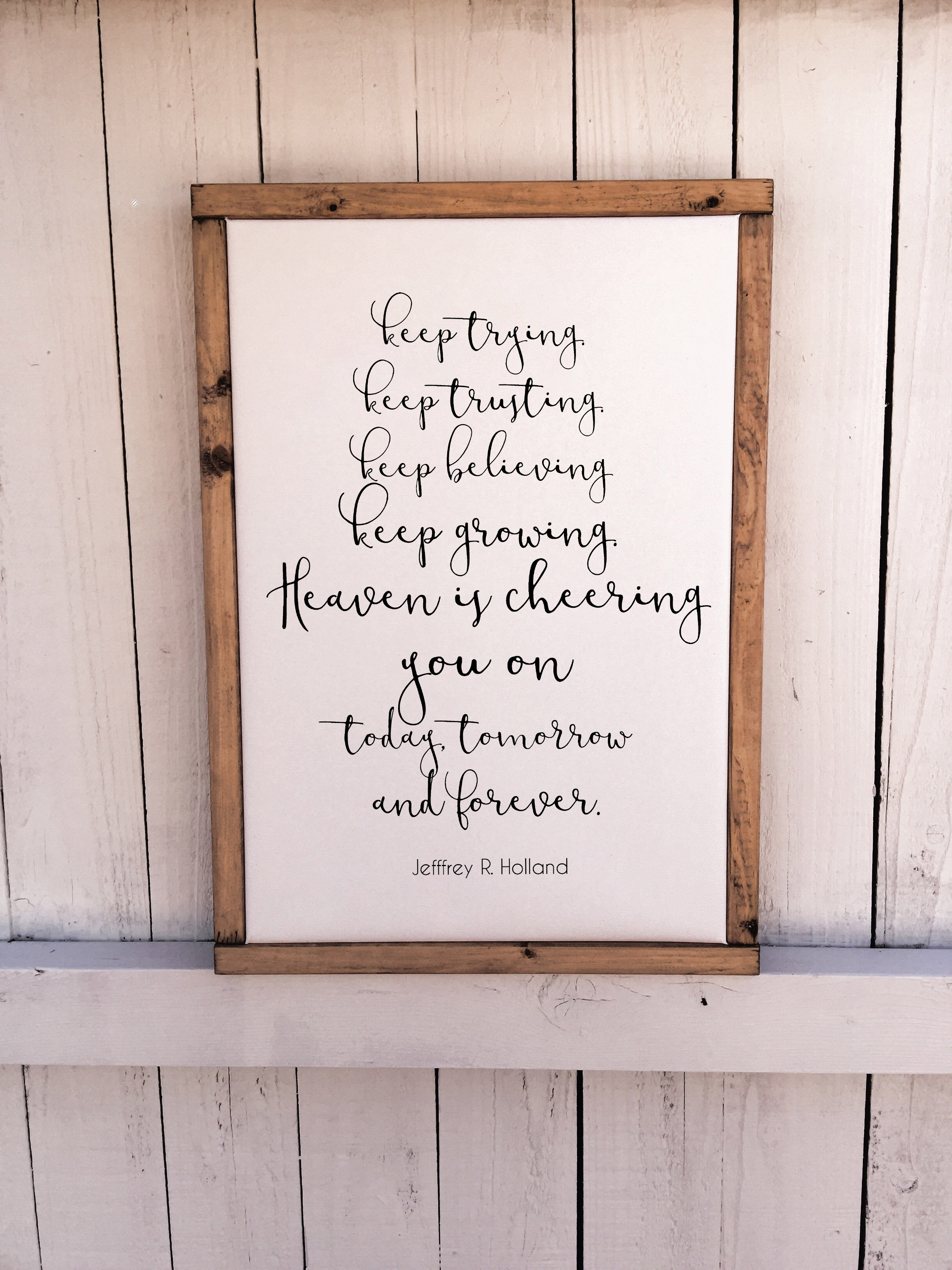 Heaven Is Cheering You On Wood Framed Canvas Sign On Storenvy