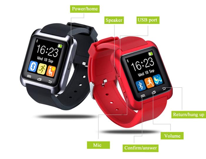U80 Bluetooth Smart Watch Call Drinking Sedentary Reminder Wristwatch sold  by Shop84
