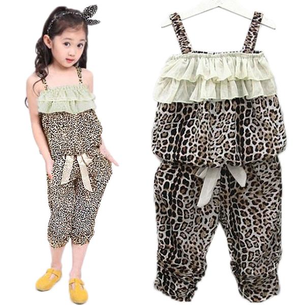 99f5c41a44af Baby Girls Leopard Clothes Sets Vest Pants Suits Outfits · LITTLE ...