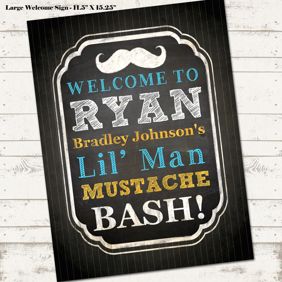 Mustache Bash Birthday Party Pack