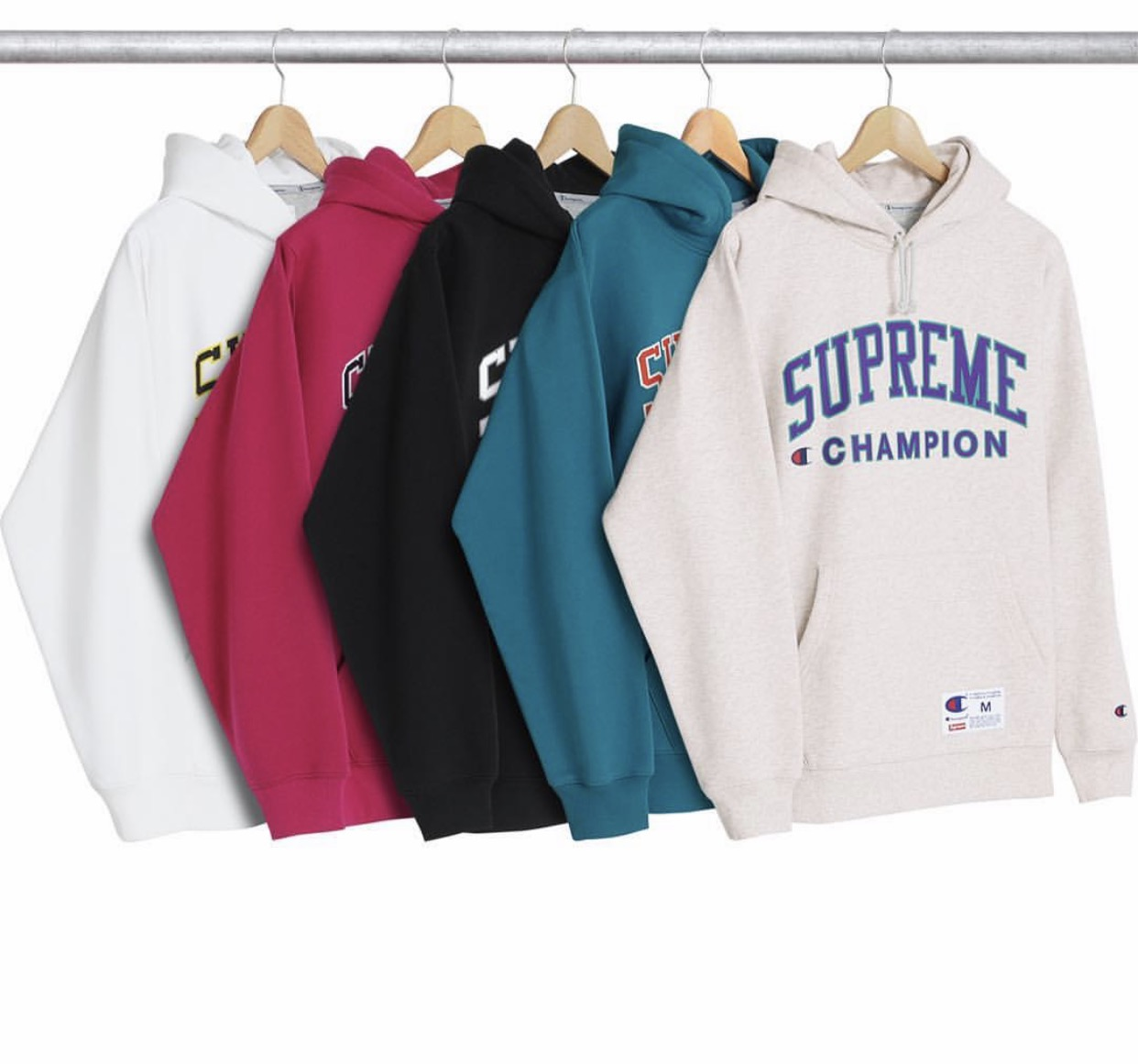 c1c89b735eb Supreme champion hooded sweatshirt    XL    BLACK on Storenvy