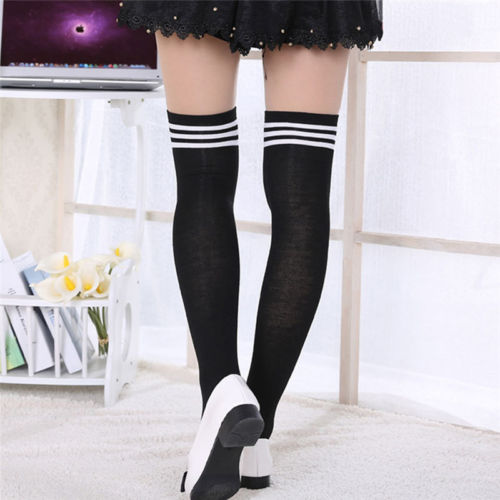 885bc939d Women Ladies Girls Thigh High OVER the KNEE Socks Long Cotton ...