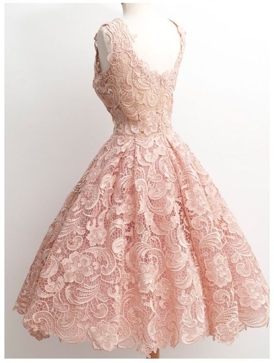 985260eea0e Vintage a line scalloped edge knee length 50s lace black prom homecoming  dress small · 1 dress size chart original small