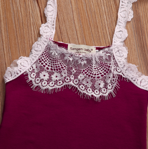 a8859070a1e Baby Toddler Plum Lace Romper · Blush + Willow