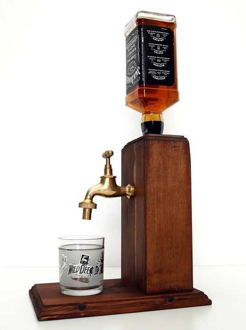 Handmade Wooden Alcohol Dispenser Large Brass On Storenvy