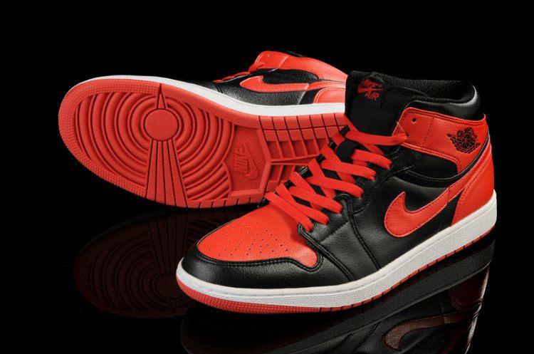 3fbb20a8eb6 Nike Air Jordan 1 Mens Air Cushion Black Red · Sneakeronline ...