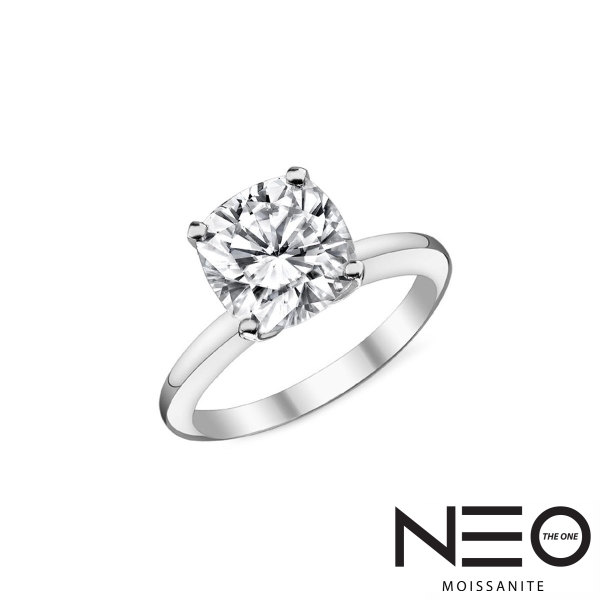 0 50 Carat 4 5mm Cushion Moissanite Solitaire Ring (NEO Moissanite) from  Kaycee Diamonds