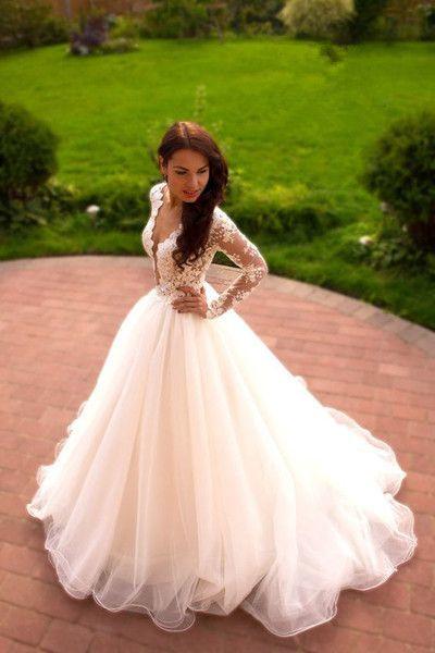 e01ad3b4d8d5 XP180 Vintage Boho Summer Wedding Dresses Princess Tulle Lace Tulle Skirt  Long Sleeves Elegant White Wedding Gown on Storenvy