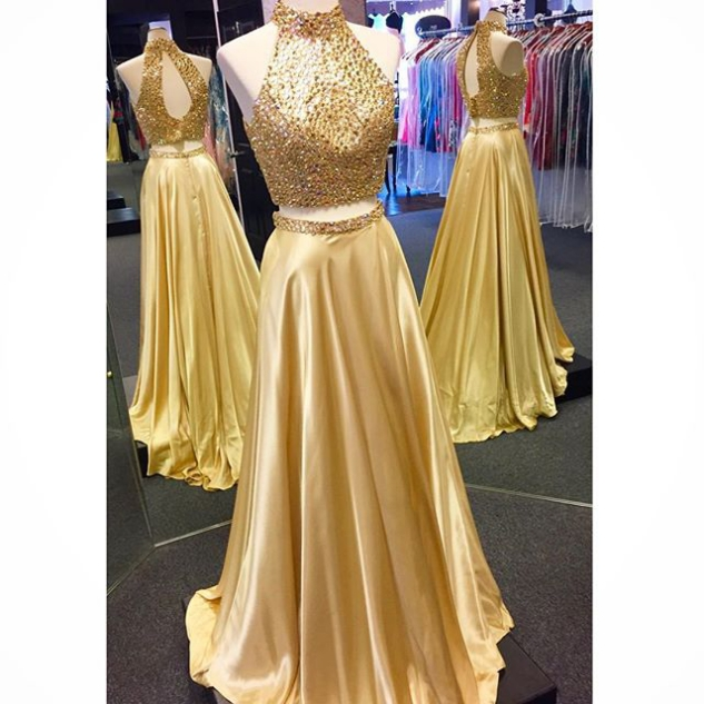 631d106cea4 Two Piece Prom Dress